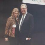 Loretta Lazzarini, titolare del Centro Servizi Immobiliari, con Mike Ferry